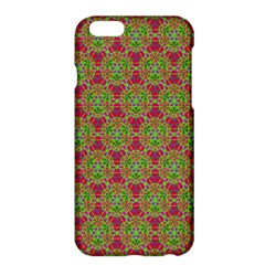 Red Green Flower Of Life Drawing Pattern Apple Iphone 6 Plus/6s Plus Hardshell Case by Cveti
