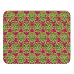Red Green Flower Of Life Drawing Pattern Double Sided Flano Blanket (large)  by Cveti
