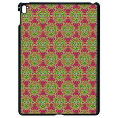 Red Green Flower Of Life Drawing Pattern Apple Ipad Pro 9 7   Black Seamless Case by Cveti