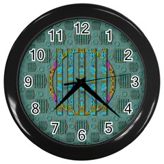 Freedom Is Every Where Just Love It Pop Art Wall Clocks (black) by pepitasart