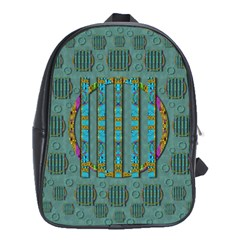 Freedom Is Every Where Just Love It Pop Art School Bag (xl) by pepitasart