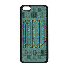 Freedom Is Every Where Just Love It Pop Art Apple Iphone 5c Seamless Case (black) by pepitasart