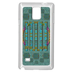 Freedom Is Every Where Just Love It Pop Art Samsung Galaxy Note 4 Case (white) by pepitasart