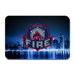 Chicago Fire With Skyline Plate Mats by allthingseveryone