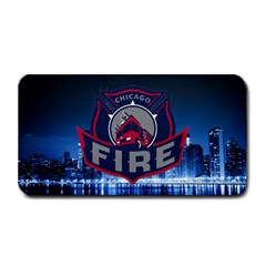 Chicago Fire With Skyline Medium Bar Mats by allthingseveryone