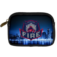 Chicago Fire With Skyline Digital Camera Cases by AllThingsEveryone