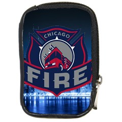 Chicago Fire With Skyline Compact Camera Cases by AllThingsEveryone