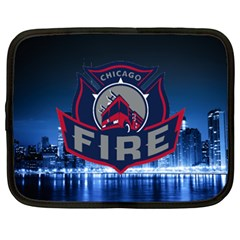 Chicago Fire With Skyline Netbook Case (xxl)  by allthingseveryone