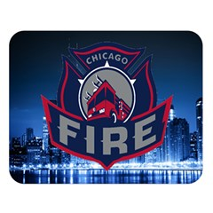 Chicago Fire With Skyline Double Sided Flano Blanket (large)  by allthingseveryone