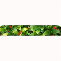 Christmas Season Floral Green Red Skimmia Flower Small Bar Mats by yoursparklingshop