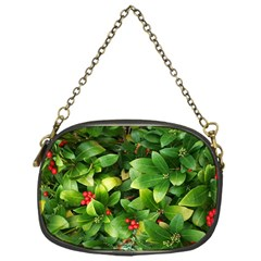 Christmas Season Floral Green Red Skimmia Flower Chain Purses (one Side)  by yoursparklingshop