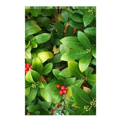 Christmas Season Floral Green Red Skimmia Flower Shower Curtain 48  X 72  (small)  by yoursparklingshop