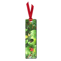 Christmas Season Floral Green Red Skimmia Flower Small Book Marks by yoursparklingshop