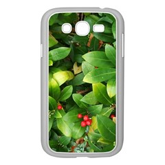 Christmas Season Floral Green Red Skimmia Flower Samsung Galaxy Grand Duos I9082 Case (white) by yoursparklingshop