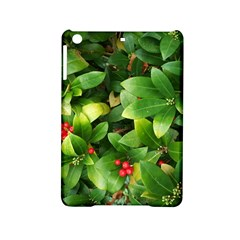 Christmas Season Floral Green Red Skimmia Flower Ipad Mini 2 Hardshell Cases by yoursparklingshop