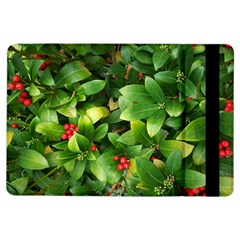 Christmas Season Floral Green Red Skimmia Flower Ipad Air Flip by yoursparklingshop