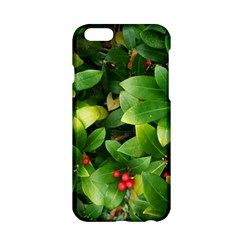 Christmas Season Floral Green Red Skimmia Flower Apple Iphone 6/6s Hardshell Case by yoursparklingshop