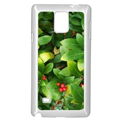 Christmas Season Floral Green Red Skimmia Flower Samsung Galaxy Note 4 Case (white) by yoursparklingshop