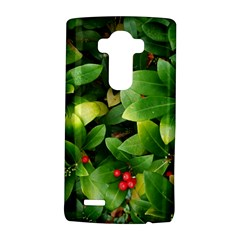 Christmas Season Floral Green Red Skimmia Flower Lg G4 Hardshell Case by yoursparklingshop