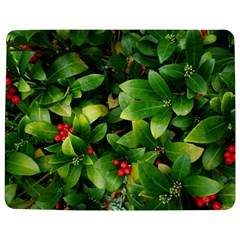 Christmas Season Floral Green Red Skimmia Flower Jigsaw Puzzle Photo Stand (rectangular) by yoursparklingshop