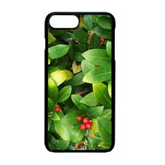 Christmas Season Floral Green Red Skimmia Flower Apple Iphone 7 Plus Seamless Case (black) by yoursparklingshop