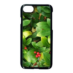 Christmas Season Floral Green Red Skimmia Flower Apple Iphone 7 Seamless Case (black) by yoursparklingshop