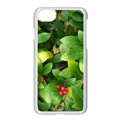 Christmas Season Floral Green Red Skimmia Flower Apple Iphone 7 Seamless Case (white) by yoursparklingshop
