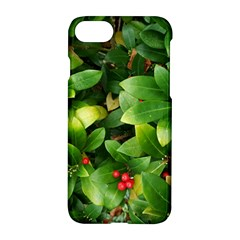 Christmas Season Floral Green Red Skimmia Flower Apple Iphone 8 Hardshell Case by yoursparklingshop