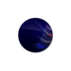 Christmas Tree Blue Stars Starry Night Lights Festive Elegant Golf Ball Marker by yoursparklingshop