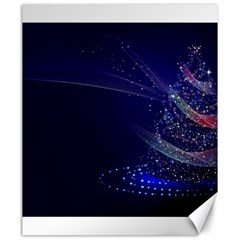 Christmas Tree Blue Stars Starry Night Lights Festive Elegant Canvas 20  X 24   by yoursparklingshop