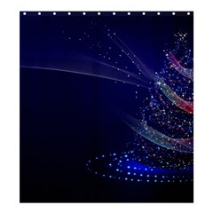 Christmas Tree Blue Stars Starry Night Lights Festive Elegant Shower Curtain 66  X 72  (large)  by yoursparklingshop