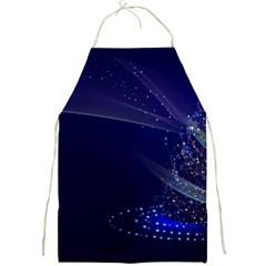 Christmas Tree Blue Stars Starry Night Lights Festive Elegant Full Print Aprons by yoursparklingshop