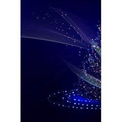 Christmas Tree Blue Stars Starry Night Lights Festive Elegant 5 5  X 8 5  Notebooks by yoursparklingshop