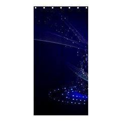 Christmas Tree Blue Stars Starry Night Lights Festive Elegant Shower Curtain 36  X 72  (stall)  by yoursparklingshop
