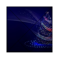 Christmas Tree Blue Stars Starry Night Lights Festive Elegant Acrylic Tangram Puzzle (6  X 6 ) by yoursparklingshop