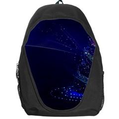 Christmas Tree Blue Stars Starry Night Lights Festive Elegant Backpack Bag by yoursparklingshop