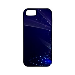 Christmas Tree Blue Stars Starry Night Lights Festive Elegant Apple Iphone 5 Classic Hardshell Case (pc+silicone) by yoursparklingshop