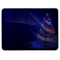 Christmas Tree Blue Stars Starry Night Lights Festive Elegant Samsung Galaxy Tab 7  P1000 Flip Case by yoursparklingshop