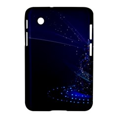 Christmas Tree Blue Stars Starry Night Lights Festive Elegant Samsung Galaxy Tab 2 (7 ) P3100 Hardshell Case  by yoursparklingshop
