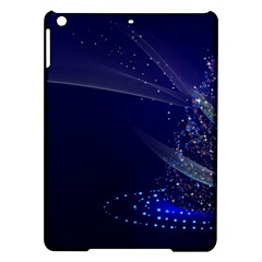Christmas Tree Blue Stars Starry Night Lights Festive Elegant Ipad Air Hardshell Cases by yoursparklingshop