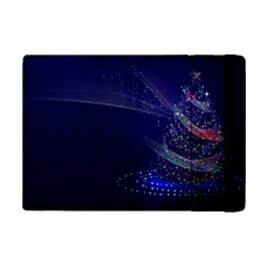 Christmas Tree Blue Stars Starry Night Lights Festive Elegant Ipad Mini 2 Flip Cases by yoursparklingshop