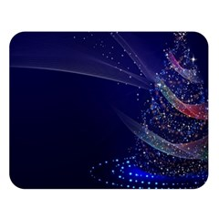Christmas Tree Blue Stars Starry Night Lights Festive Elegant Double Sided Flano Blanket (large)  by yoursparklingshop