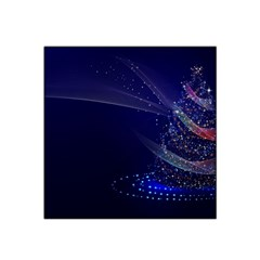 Christmas Tree Blue Stars Starry Night Lights Festive Elegant Satin Bandana Scarf by yoursparklingshop