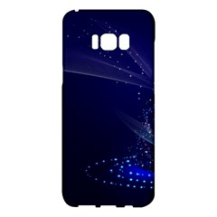 Christmas Tree Blue Stars Starry Night Lights Festive Elegant Samsung Galaxy S8 Plus Hardshell Case  by yoursparklingshop