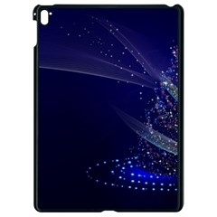 Christmas Tree Blue Stars Starry Night Lights Festive Elegant Apple Ipad Pro 9 7   Black Seamless Case by yoursparklingshop