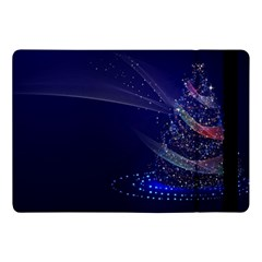 Christmas Tree Blue Stars Starry Night Lights Festive Elegant Apple Ipad Pro 10 5   Flip Case by yoursparklingshop