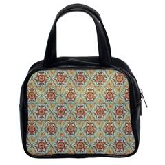Hexagon Tile Pattern 2 Classic Handbags (2 Sides) by Cveti
