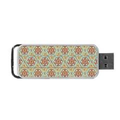Hexagon Tile Pattern 2 Portable Usb Flash (one Side) by Cveti