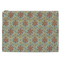 Hexagon Tile Pattern 2 Cosmetic Bag (xxl)  by Cveti