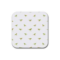 Birds Motif Pattern Rubber Coaster (square)  by dflcprints